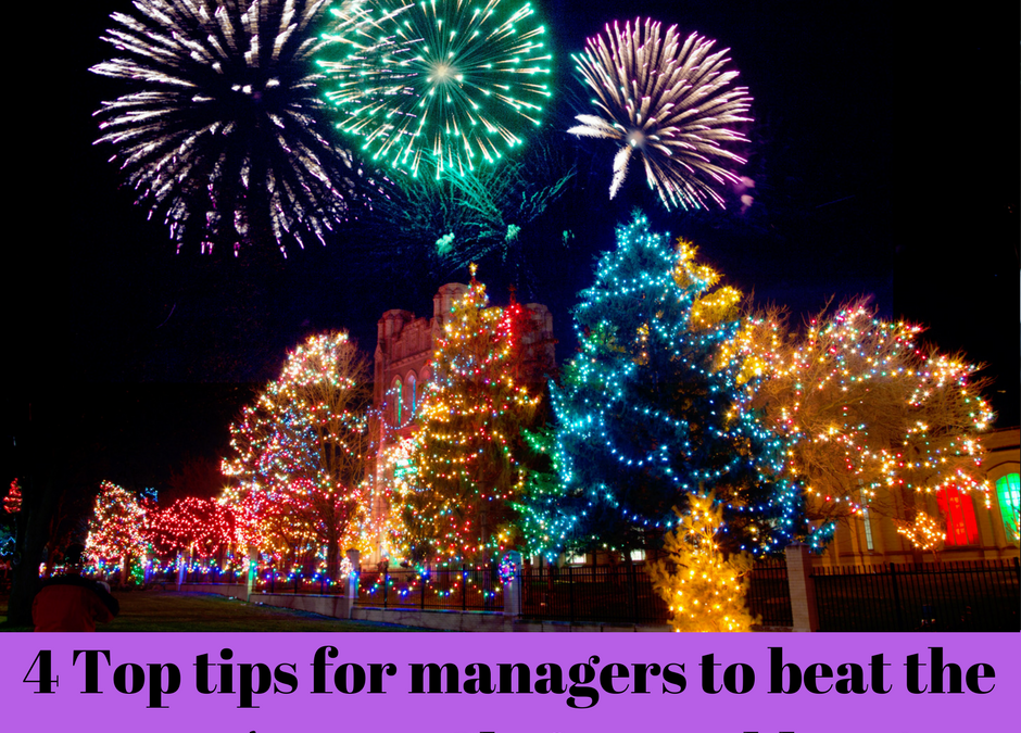 4 Top tips for Managers to beat team's post-Christmas  blues!