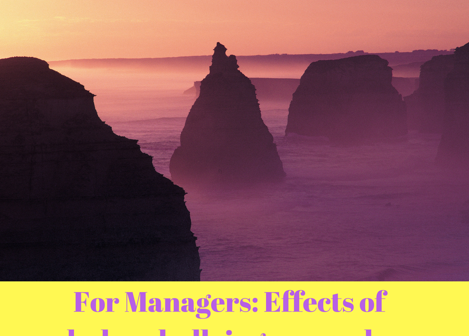 For Managers: The effects of workplace bullying on employees.